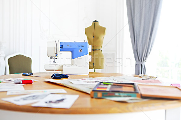Sewing machine, dummy and other sewing equipment  Stock photo © dashapetrenko