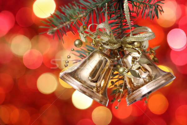 Golden Christmas tree decorations  Stock photo © dashapetrenko
