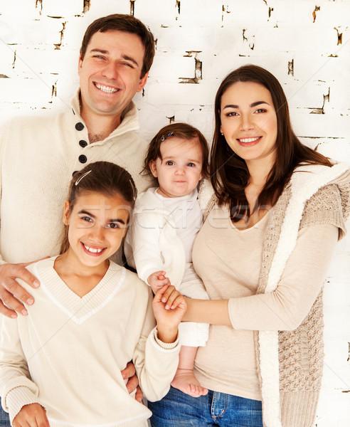 Portrait of a happy smiling family  Stock photo © dashapetrenko