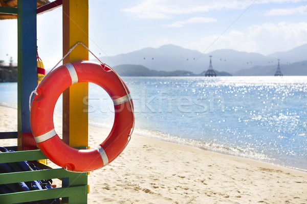 Open lifeguard tower with lifebelt, Nha Trang, Vietnam Stock photo © dashapetrenko