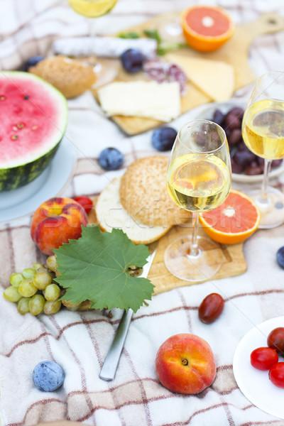 Stock fotó: Felső · kilátás · nyár · kert · piknik · buli