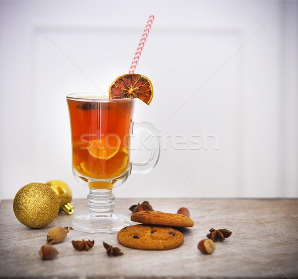 Caliente Navidad té especias invierno canela Foto stock © dashapetrenko