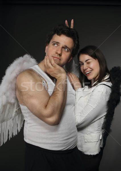 天使 気味悪い 文字 肖像 家族 映画 ストックフォト © dashapetrenko
