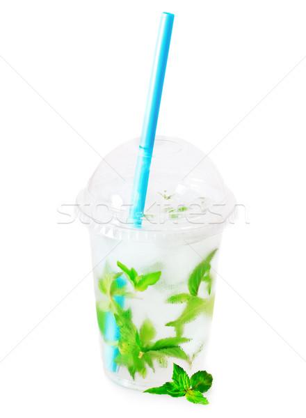 Mojito gelo beber isolado branco verão Foto stock © dashapetrenko
