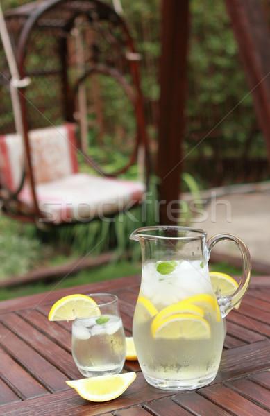 Pitcher and  glasses of fresh lemonade Stock photo © dashapetrenko
