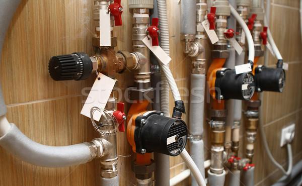 отопления дома строительство стены аннотация промышленности Сток-фото © dashapetrenko