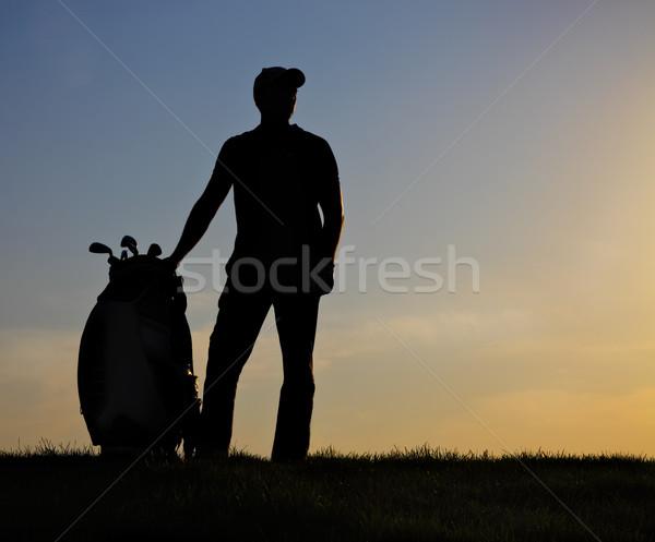 男性 ゴルファー 日没 演奏 ゴルフ 男 ストックフォト © dashapetrenko