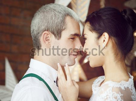 Cheerful married couple Stock photo © dashapetrenko