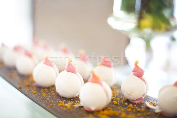 Meringue dessert on stone board Stock photo © dashapetrenko