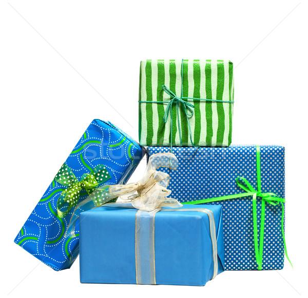 Boxes tied with a ribbon bow Stock photo © dashapetrenko