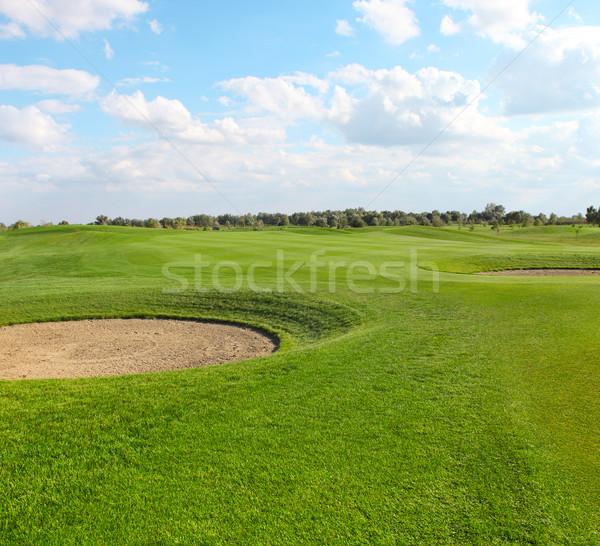 зеленый гольф лет время гольф пейзаж Сток-фото © dashapetrenko