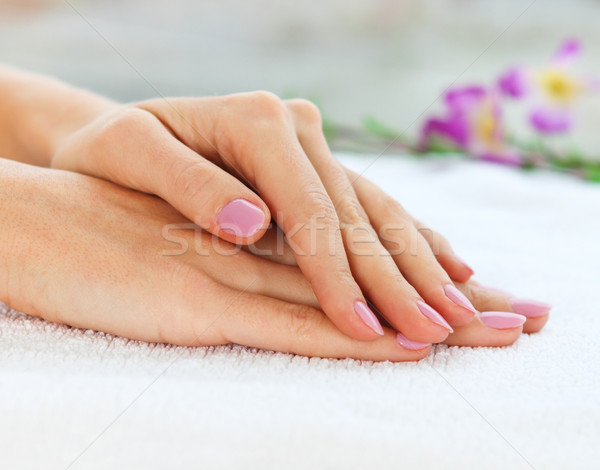 Shot vrouw manicure ontwerp Stockfoto © dashapetrenko