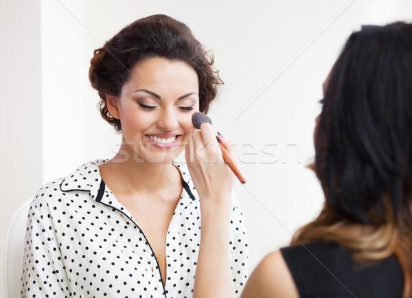 Uzupełnić młodych piękna oblubienicy Zdjęcia stock © dashapetrenko
