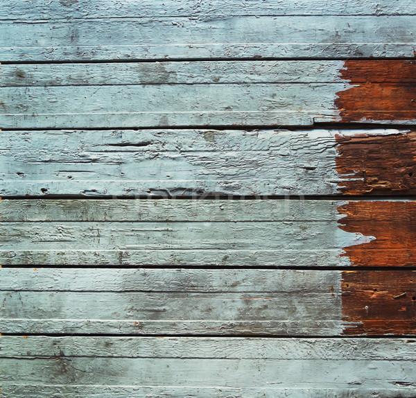 декоративный бирюзовый горизонтальный доски деревенский Сток-фото © dashapetrenko