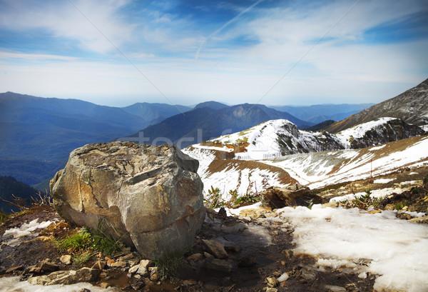 High mountains landscape view in Rosa Khutor Stock photo © dashapetrenko