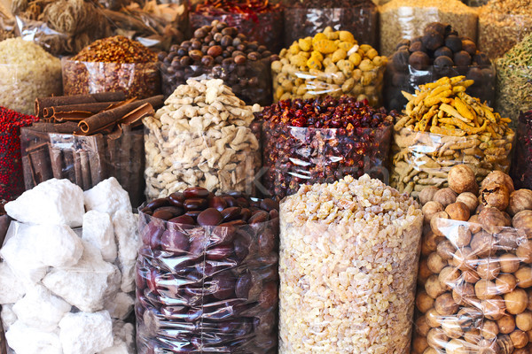Spices and herbs being sold on street stall at arab traditional  Stock photo © dashapetrenko