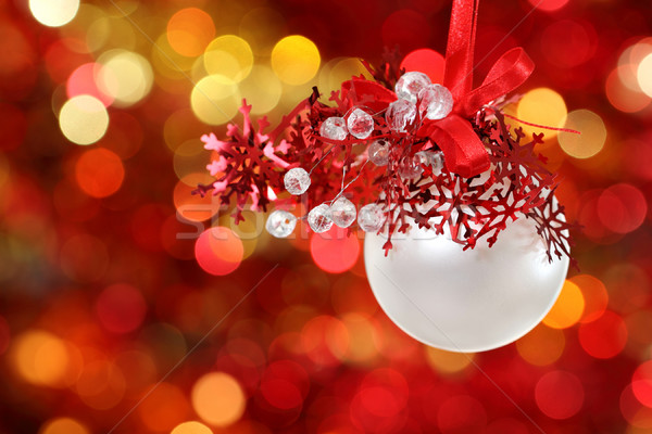 Christmas tree decorations on lights background Stock photo © dashapetrenko