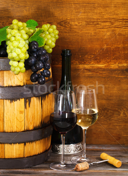 Still life with glasses of the red and white wine  Stock photo © dashapetrenko