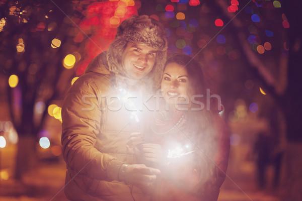 Bengalski świetle patrząc kamery na zewnątrz Zdjęcia stock © dashapetrenko