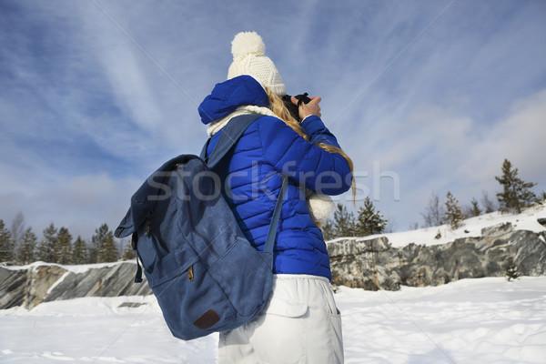 Professionnels Homme film photographe Russie marbre Photo stock © dashapetrenko