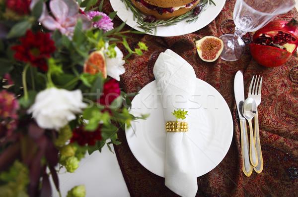 Dessert table for a wedding Stock photo © dashapetrenko
