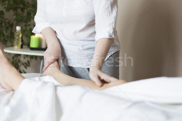 Pie masaje tratamiento Asia spa salón Foto stock © dashapetrenko