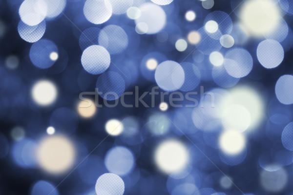 Blue and white holiday bokeh Stock photo © dashapetrenko