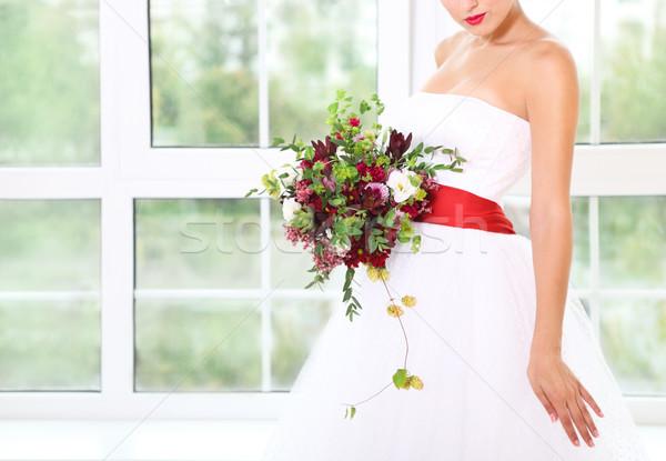 結婚式のブーケ ジューシーな 花 ホップ レトロスタイル 珍しい ストックフォト © dashapetrenko