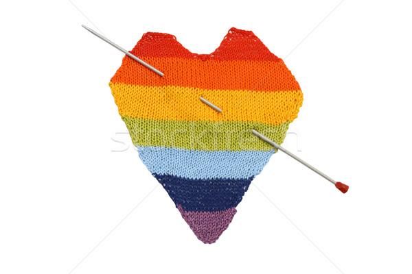 Colored heart Stock photo © dashapetrenko