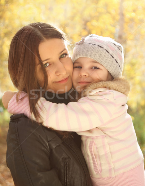 Portrait of two sisters Stock photo © dashapetrenko