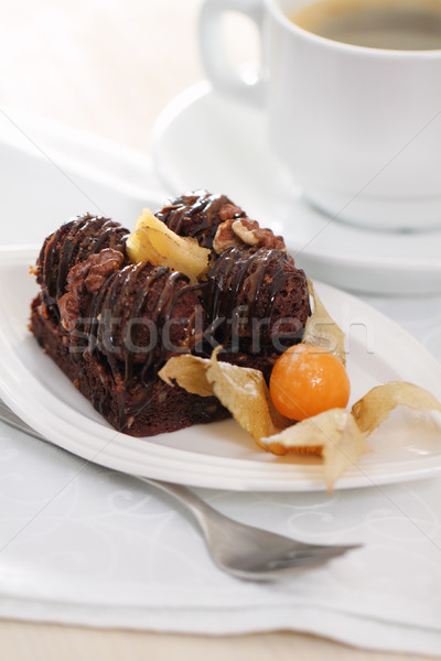 Delicious chocolate cake  Stock photo © dashapetrenko
