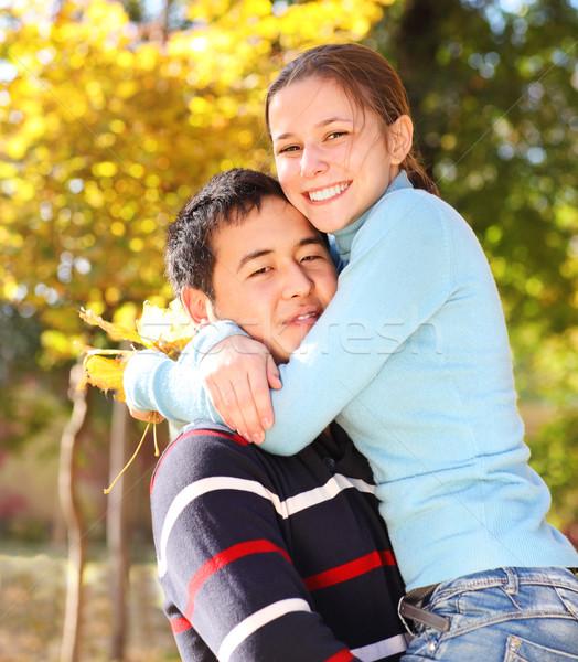 Heureux amour extérieur femme fille Photo stock © dashapetrenko