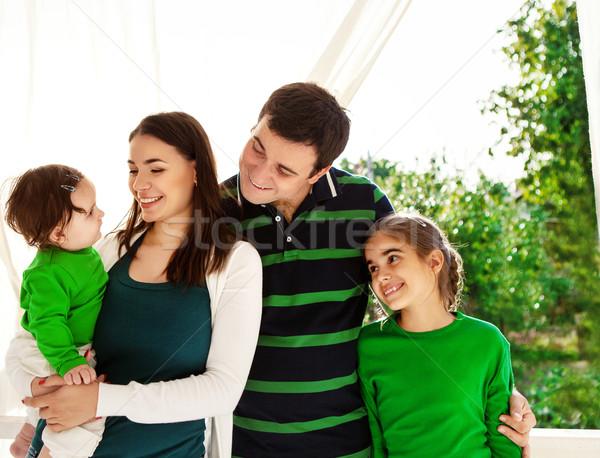 Portrait heureux souriant portrait de famille famille extérieur Photo stock © dashapetrenko