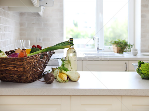 Classica bianco cucina home cibo sano casa Foto d'archivio © dashapetrenko
