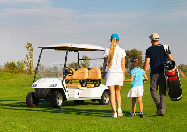 Young sportive family playing golf  Stock photo © dashapetrenko