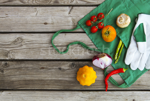 Stock photo: Fresh farmers market fruits and vegetables