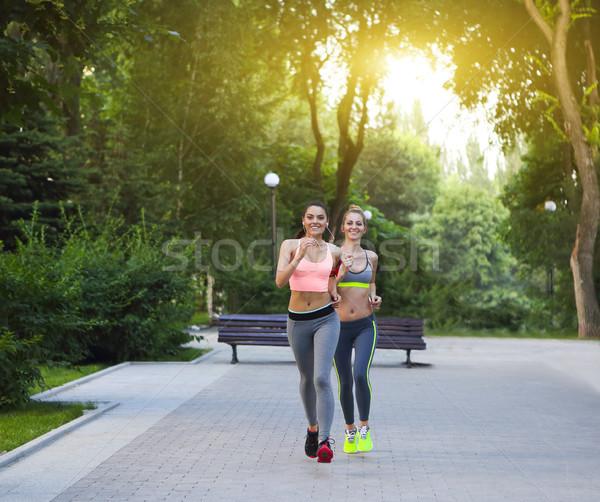 Бегуны подготовки улице парка город Сток-фото © dashapetrenko