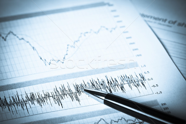 Stock photo: Business Graphs