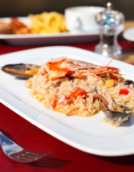 Classic risotto with the seafood  Stock photo © dashapetrenko