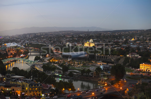 Night view to Old town of Tbilisi, Georgia  Stock photo © dashapetrenko