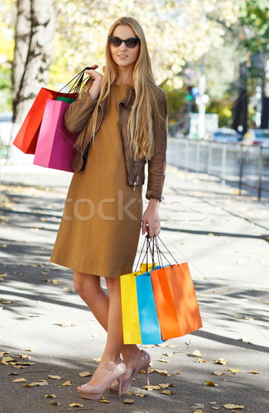 Young woman with shopping bags Stock photo © dashapetrenko