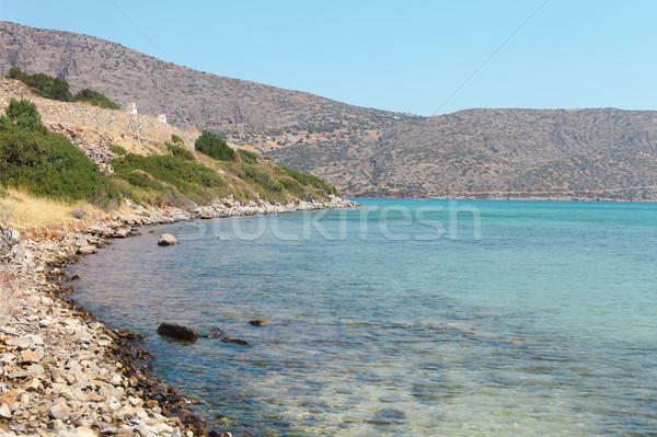 Beautiful sea landscape. Elounda, Crete, Greece Stock photo © dashapetrenko