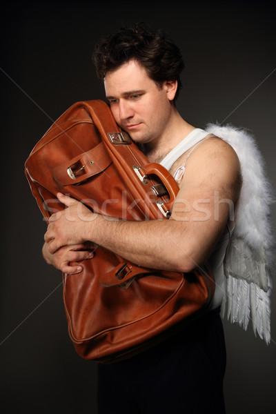 天使 ブラウン 袋 気味悪い 文字 肖像 ストックフォト © dashapetrenko