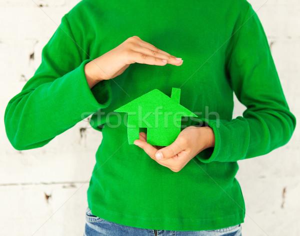 девочку теплица рук дома стороны Сток-фото © dashapetrenko