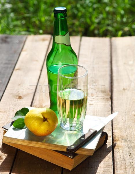 Armut elma şarabı armut yaz bahçe piknik Stok fotoğraf © dashapetrenko