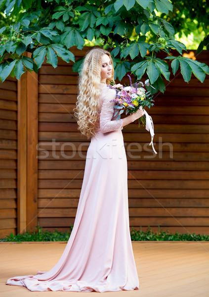 花嫁 結婚式のブーケ ジューシーな 花 レトロな ストックフォト © dashapetrenko