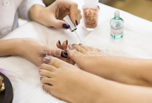 Pedicure schoonheidssalon nagel hand mode Stockfoto © dashapetrenko