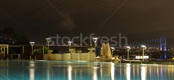 Köprü İstanbul Türkiye görmek Bina doğa Stok fotoğraf © dashapetrenko