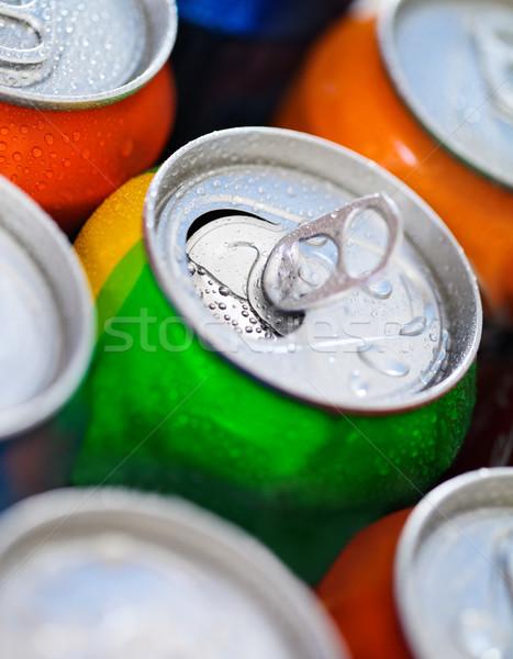 Cans of sweet drinks (or beer) Stock photo © dashapetrenko