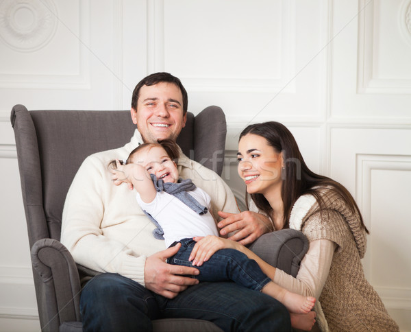 Famille heureuse heureux souriant Photo stock © dashapetrenko